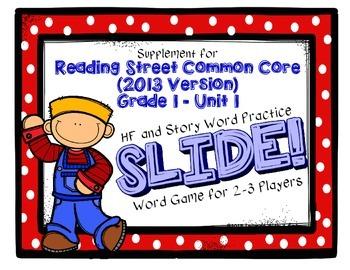 Reading Street FIRST GRADE Unit 1 No Prep Word Game: SLIDE!