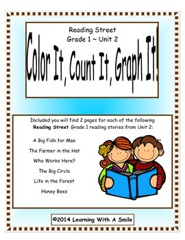 Reading Street FIRST GRADE Unit 2  - Color It, Count It, Graph It!