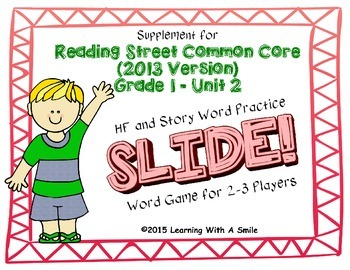 Reading Street FIRST GRADE Unit 2 No Prep Word Game: SLIDE!