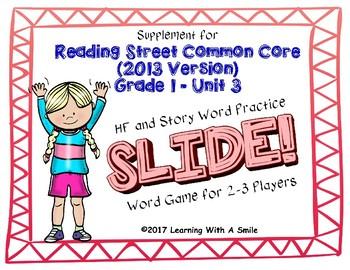 Reading Street FIRST GRADE Unit 3 No Prep Word Game: SLIDE!
