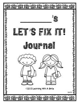 Reading Street FIRST GRADE (Unit R) FIX-IT JOURNALS: Let's Fix It!