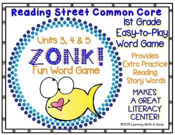 Reading Street Grade 1 (Units 3, 4, 5) ZONK! Word Game