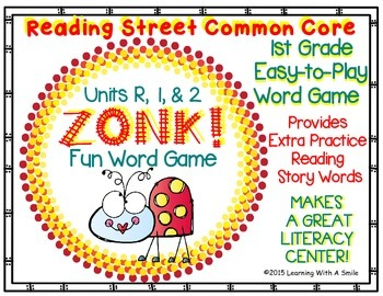 Reading Street FIRST GRADE (Units R, 1, & 2) ZONK! Partner Game LITERACY CENTER