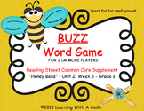 Reading Street FIRST GRADE Word Game HONEY BEES Unit 2, Week 6