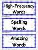Reading Street FREE Headers for HFW, Spelling, and Amazing Words