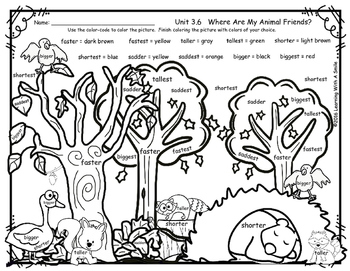 Reading Street FREEBIE First Grade WHERE ARE MY ANIMAL FRIENDS? Unit 3.6