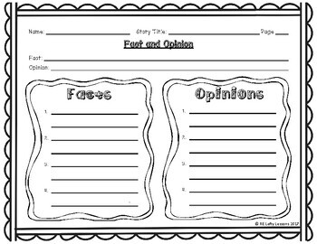 Fact and Opinion Reading Comprehension Worksheet