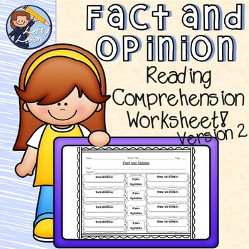 Fact and Opinion Reading Comprehension Worksheet 2