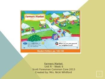 """Reading Street """"Farmers Market"""" Weekly PowerPoint"""