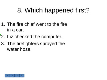 "Reading Street ""Firefighter!  "" Selection Test (Turning Point)"