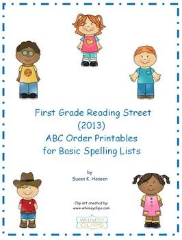 Reading Street First Grade ABC Order Printables
