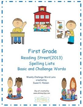 Reading Street First Grade Spelling Lists