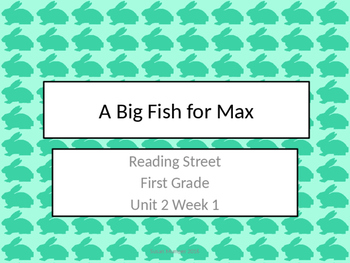 Reading Street First Grade A Big Fish for Max {Unit 2 week 1}