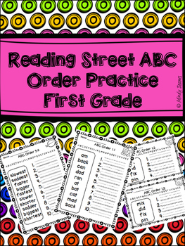 Reading Street First Grade ABC Order Practice  Bundle- Units 1-5