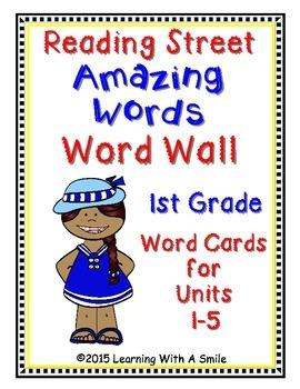 Reading Street First Grade AMAZING WORDS: Word Walls/ Pocket Charts UNIT 1-5