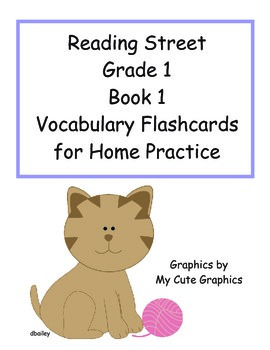 Reading Street First Grade Book 1 Vocabulary Flashcards for Home Practice
