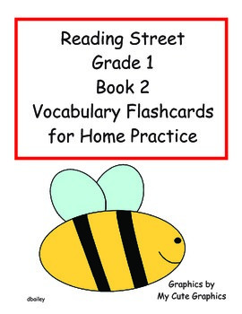 Reading Street First Grade Book 2 Vocabulary Flashcards for Home Practice