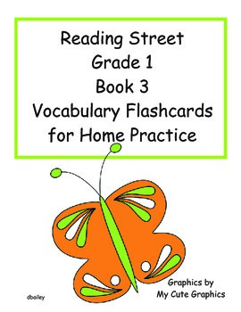 Reading Street First Grade Book 3 Vocabulary Flashcards for Home Practice