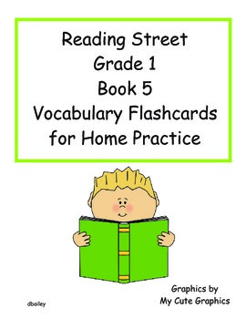 Reading Street First Grade Book 5 Vocabulary Flashcards for Home Practice