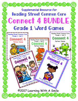 Reading Street First Grade CONNECT 4 BUNDLE