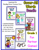 Reading Street First Grade COVER-ALL WORDS: BUNDLE Reading/Spelling Dice Games