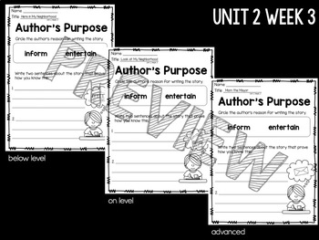 Reading Street First Grade Comprehension Worksheets Unit 2