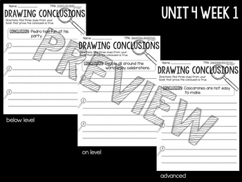 Reading Street First Grade Comprehension Worksheets Unit 4