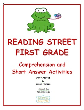 Reading Street First Grade Comprehension and Short Answer Activities