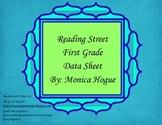 Reading Street - First Grade Data Sheet