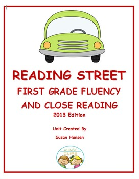 Reading Street First Grade Fluency and Close Reading Activities