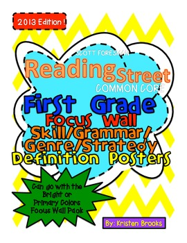 Reading Street First Grade Focus Wall Posters and Definitions