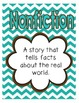Reading Street First Grade Focus Wall Posters and Definitions (Teal and Brown)