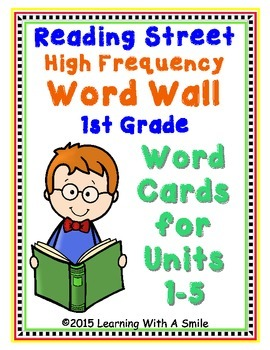 Reading Street First Grade HIGH FREQUENCY Word Walls/ Pocket Charts