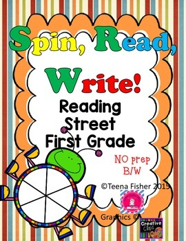 Reading Street First Grade High Frequency Spin, Read, & Write NO Prep