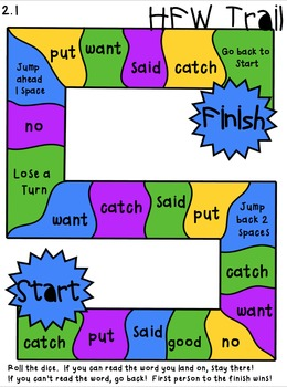Reading Street First Grade High-Frequency Word Trail Game ...Unit 2