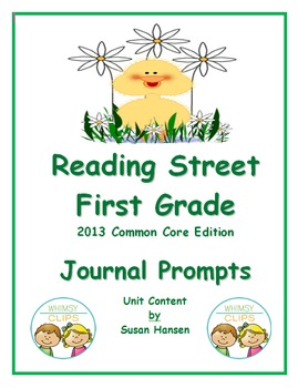 Reading Street First Grade Journal Prompts