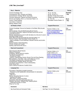 Reading Street - First Grade Lesson Plans - Unit 1