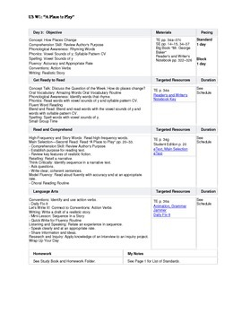 Reading Street - First Grade Lesson Plans - Unit 3
