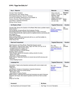 Reading Street - First Grade Lesson Plans - Unit 5