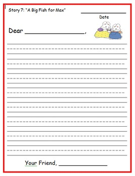 Reading Street First Grade Letter Writing Unit