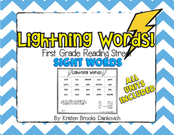 Reading Street First Grade Lightning Words (All Units)