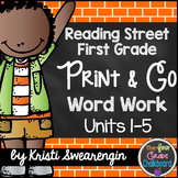 Reading Street First Grade Print and Go Word Work Centers