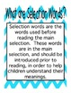 Reading Street First Grade Selection Words (Bright Colors) (Block Font)