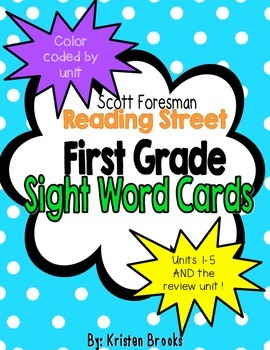 Reading Street First Grade High-Frequency/Sight Word Cards