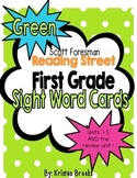 Reading Street First Grade Sight Word Cards in GREEN (2013 Common Core)