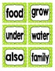 Reading Street First Grade Sight Word Cards in GREEN (2013