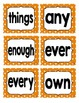 Reading Street First Grade Sight Word Cards in Orange (2013 Common Core)