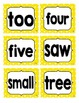 Reading Street First Grade Sight Word Cards in YELLOW (2013 Common Core)