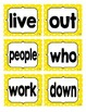 Reading Street First Grade Sight Word Cards in YELLOW (201