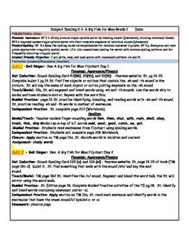 Reading Street First Grade Spelling Unit 2 Lesson Plan Bundle